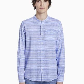 Tom Tailor modrá pánská pruhovaná košile