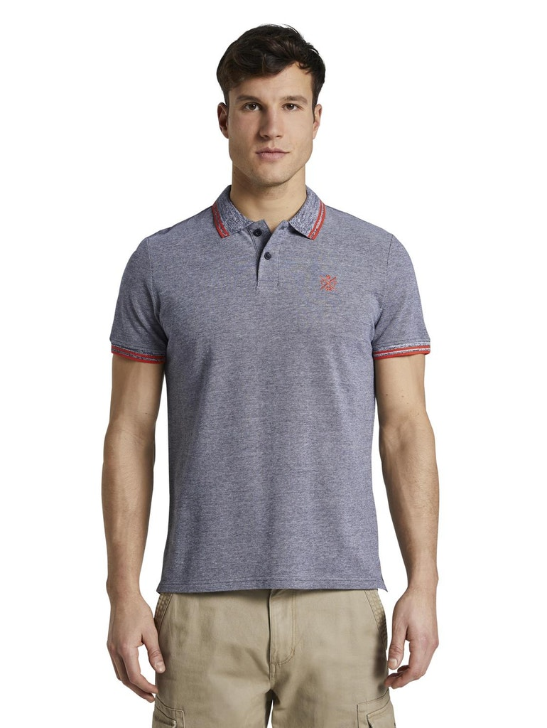 Tom Tailor modré pánské polo tričko
