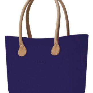 O bag kabelka Iris s dlouhými koženkovými držadly natural