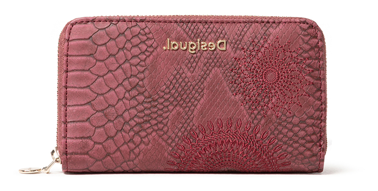 Desigual bordová peněženka Mone Criseida Mini Zip