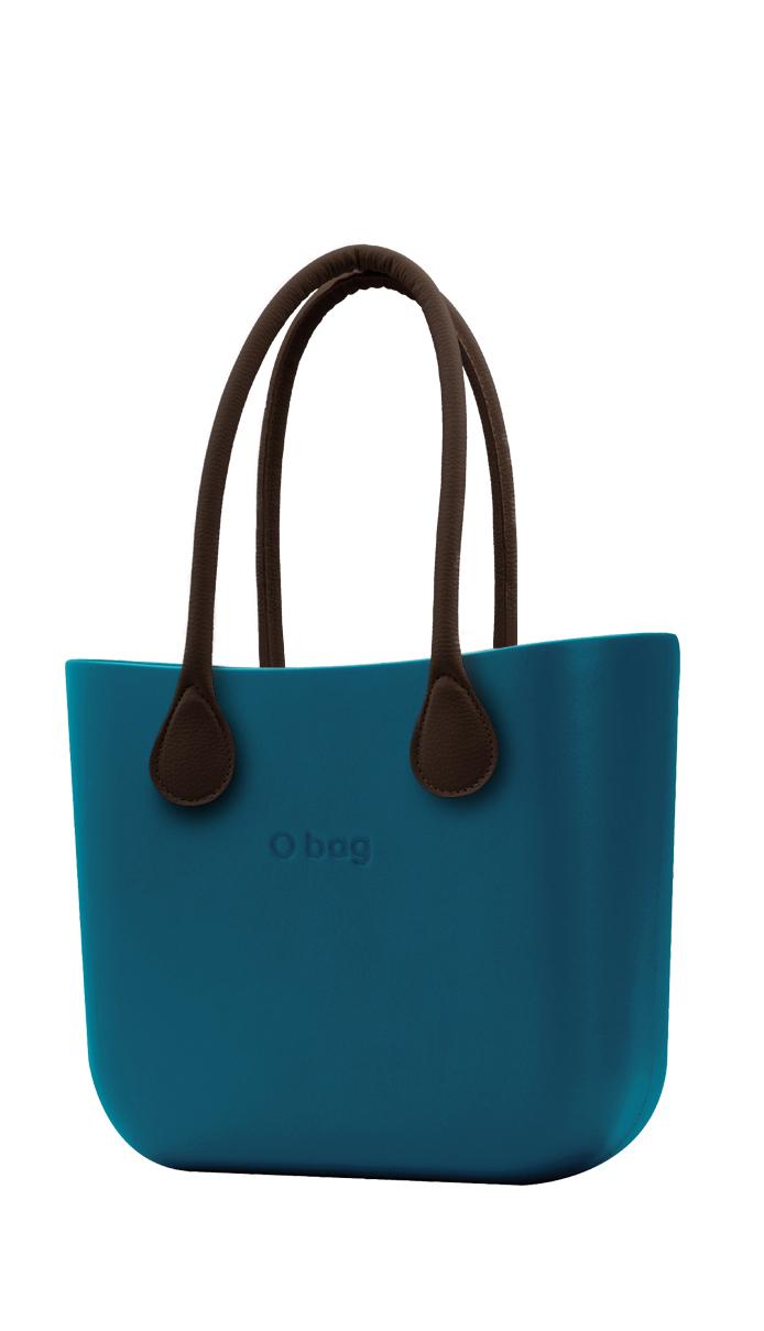 O bag kabelka Ottanio s hnědými dlouhými koženkovými držadly