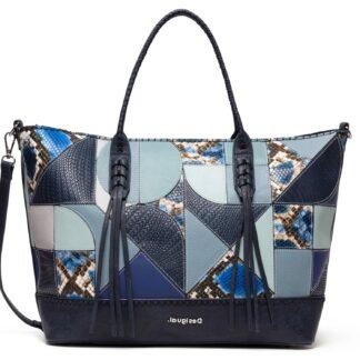 Desigual modrá patchwork kabelka Bols Ayax Holbox