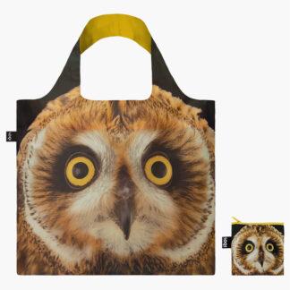 Loqi skládací eko taška National Geographic Owl
