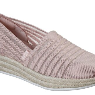 Skechers pudrové espadrilky s jutou Highlights 2.0 Homestretch Blush