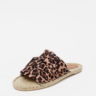Pieces pantofle Alira s leopardím vzorem