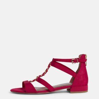Tamaris červené kotníkové sandály