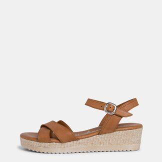 Tamaris hnědé sandály na platformě