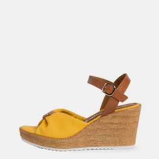 Tamaris žluté boty na klínku