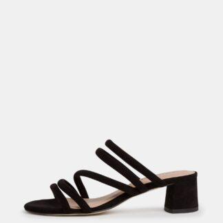 Tamaris černé semišové sandály