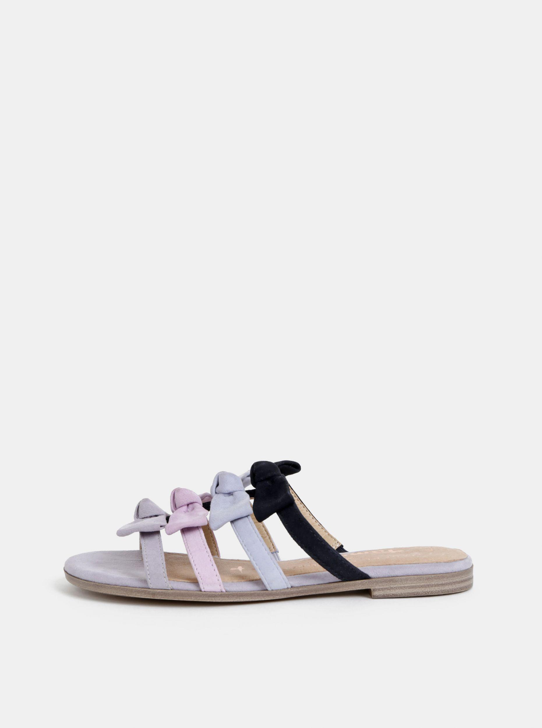 Tamaris šedé semišové pantofle