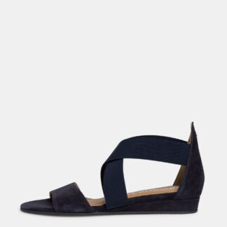 Tamaris tmavě modré semišové sandály