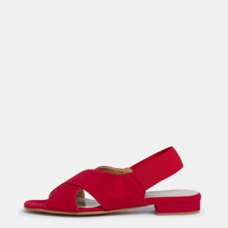 Tamaris červené semišové sandály