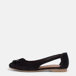 Tamaris černé semišové baleríny