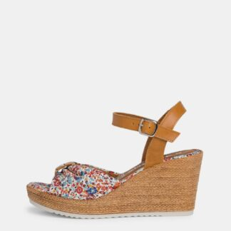 Tamaris květované boty na klínku