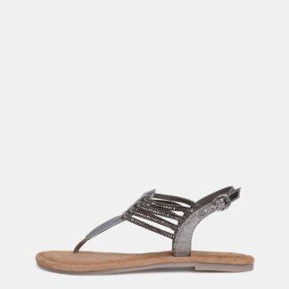 Tamaris stříbrné kožené sandály