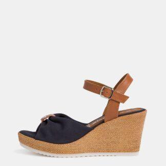 Tamaris modré boty na klínku