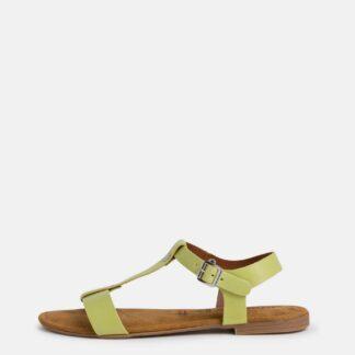 Tamaris zelené kožené sandály