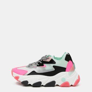 Tally Weijl růžovo-bílé tenisky na platformě