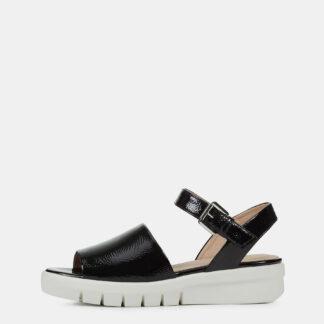 Geox černé dámské sandály na platformě Wimbley
