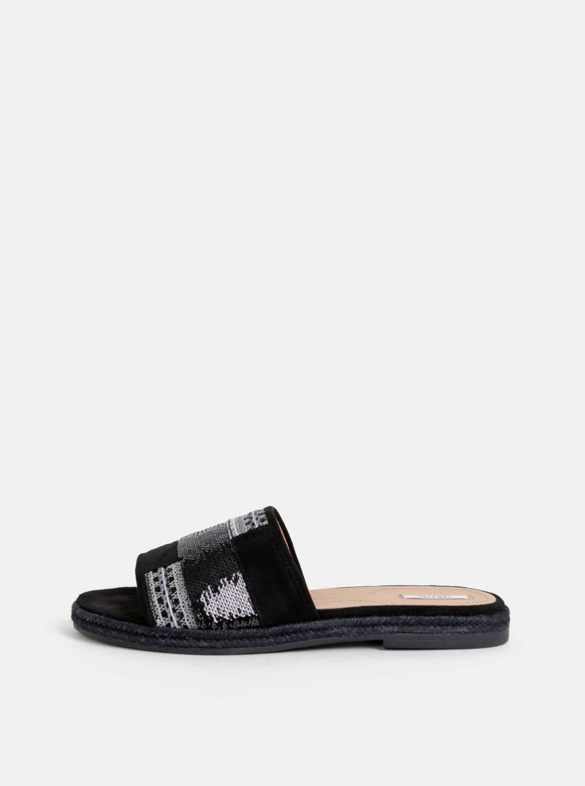 Geox černé dámské semišové pantofle Kolleen