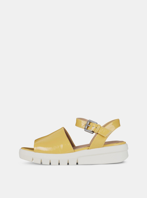 Geox žluté dámské sandály na platformě Wimbley