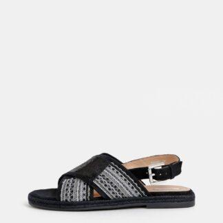 Geox černé dámské sandály s flitry Kolleen