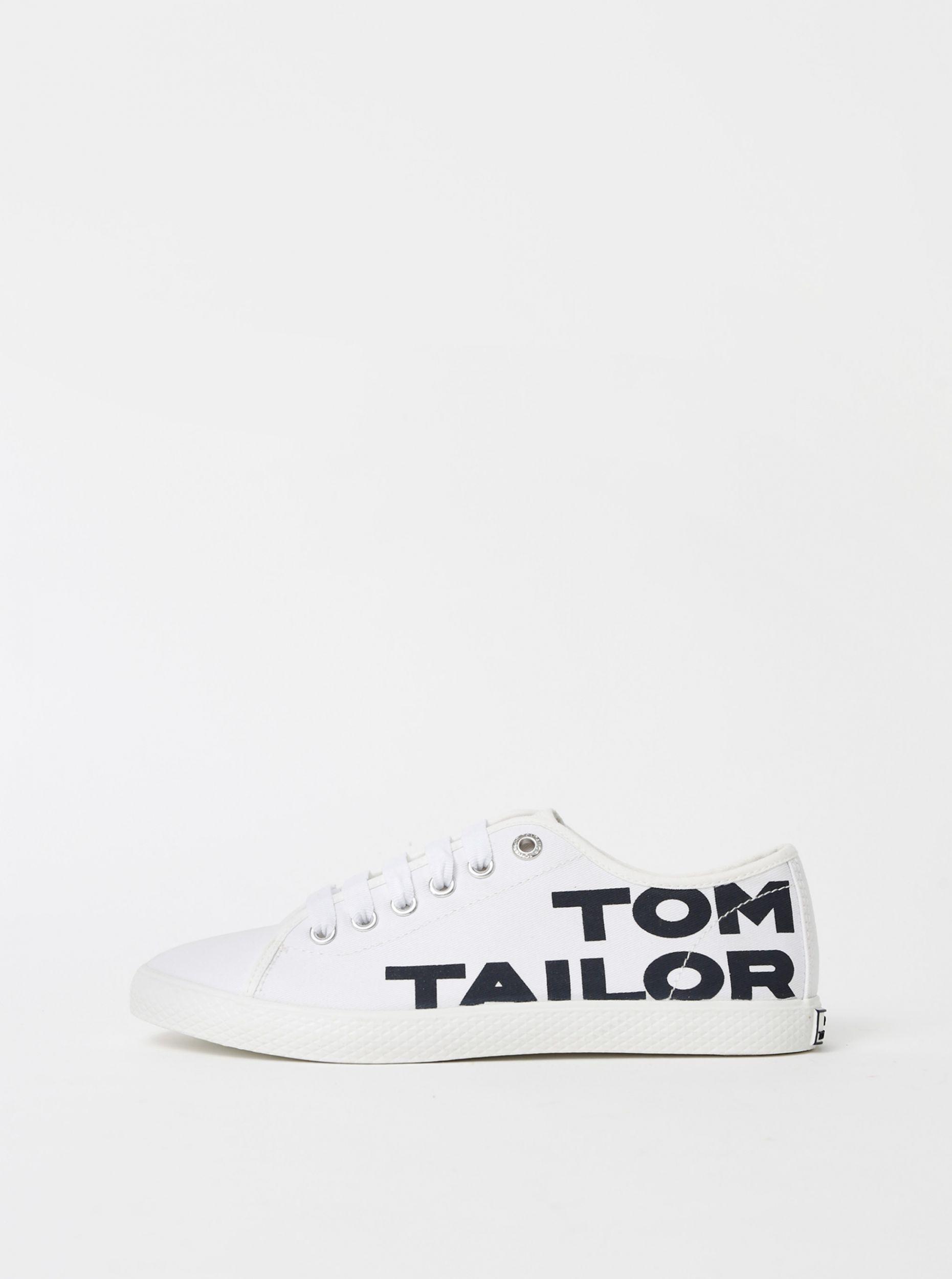 Tom Tailor bílé tenisky s logem