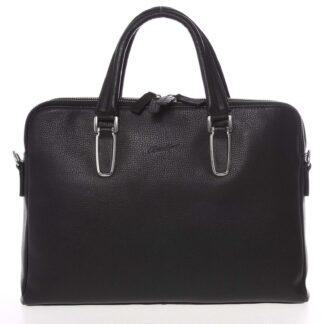 Luxusní kožená taška černá - Gerard Henon Edmond černá