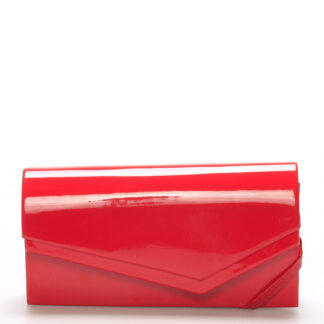 Originální dámské psaníčko červené lesklé - Delami Phoenix červená
