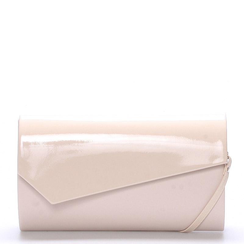 Velké stylové dámské psaníčko pudrové matné - Delami Charlien růžová
