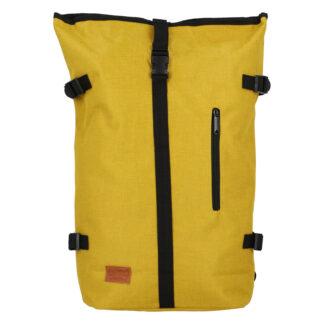 Jedinečný velký stylový unisex batoh žlutý - New Rebels Rebback žlutá