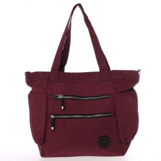 Moderní látková sportovní červená taška - New Rebels Brielle červená
