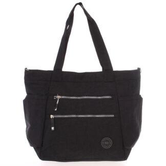 Moderní látková sportovní černá taška - New Rebels Brielle černá