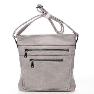Moderní střední crossbody kabelka šedá - Delami Karlie šedá
