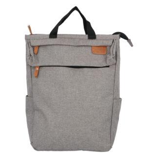 Trendy a stylový šedý látkový batoh - New Rebels Genderus šedá