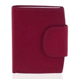 Elegantní červená kožená peněženka se zápinkou - Diviley Universit červená