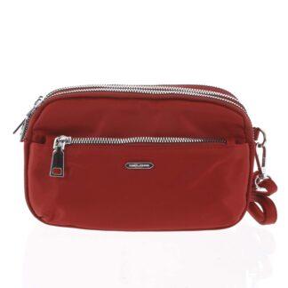 Stylová malá dámská crossbody kabelka tmavě červená - David Jones Lizbeth červená