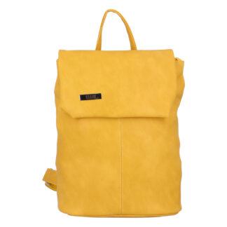 Větší měkký dámský moderní žlutý batoh - Ellis Elizabeth JR žlutá