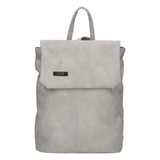 Větší měkký dámský moderní krémově šedý batoh - Ellis Elizabeth JR šedá