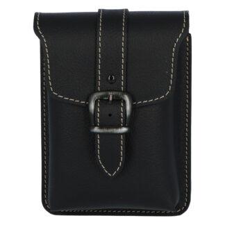 Pánská kožená kapsa na opasek černá - Kabea Hepp 2 černá