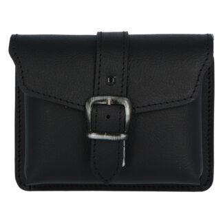 Pánská kožená kapsa na opasek černá - Kabea Basel černá