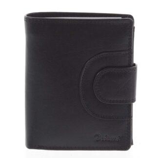 Pánská kožená peněženka černá - Delami Armando černá