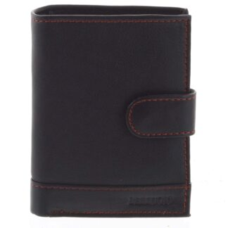 Pánská kožená peněženka černo červená - Bellugio Garner černá