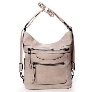 Dámská kabelka batoh světle růžová - Romina Pamila růžová
