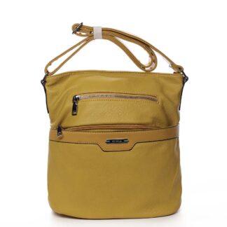 Dámská crossbody kabelka žlutá - Romina Elmina žlutá