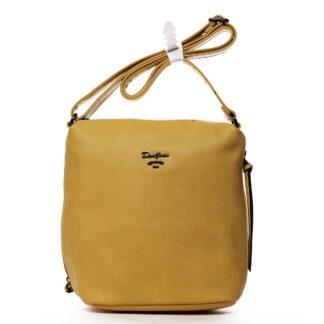 Dámská crossbody kabelka žlutá - David Jones Haley žlutá