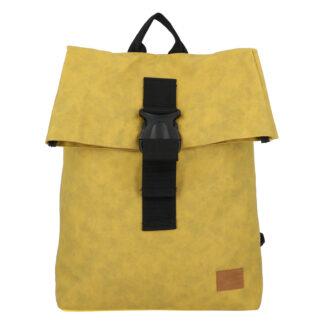 Pánský batoh tmavě žlutý - New Rebels Rebell žlutá