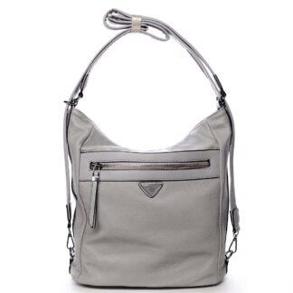 Dámská kabelka batoh světle šedá - Romina Tonandis šedá