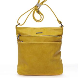 Dámská crossbody kabelka žlutá - Silvia Rosa Girly žlutá