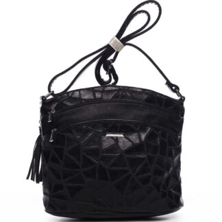 Dámská crossbody kabelka černá - Silvia Rosa Billie Pattern černá